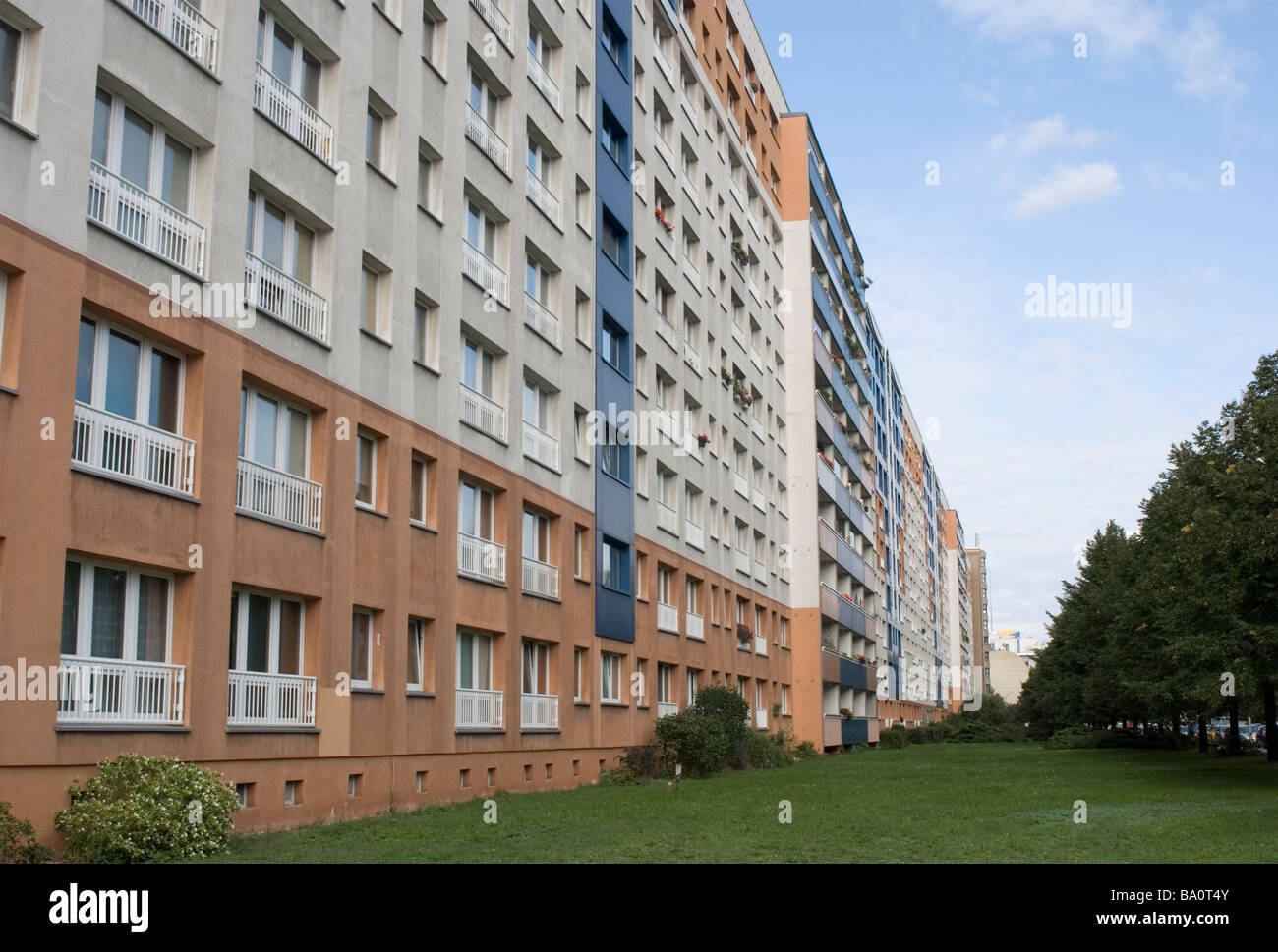 apartments building in Kreuzberg district Berlin Germany - Stock Image