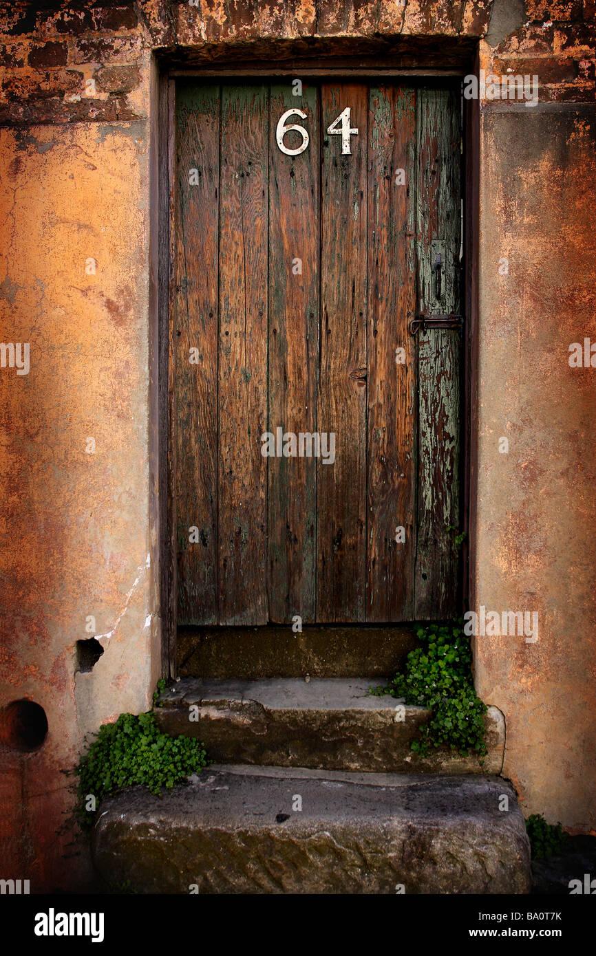 Old wooden door - Stock Image