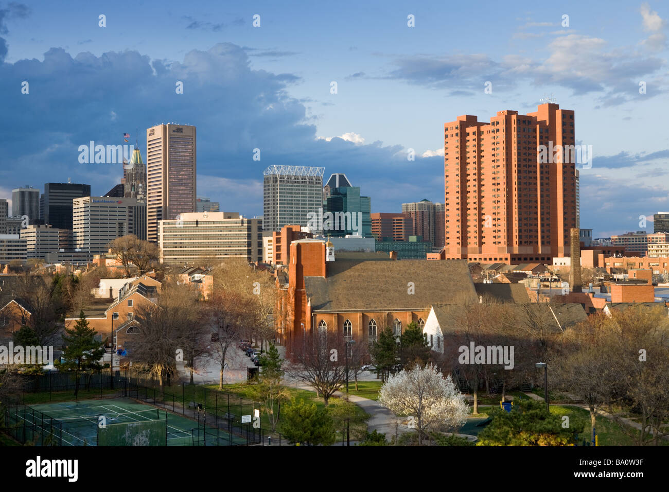 Skyline of Baltimore Maryland from the south - Stock Image