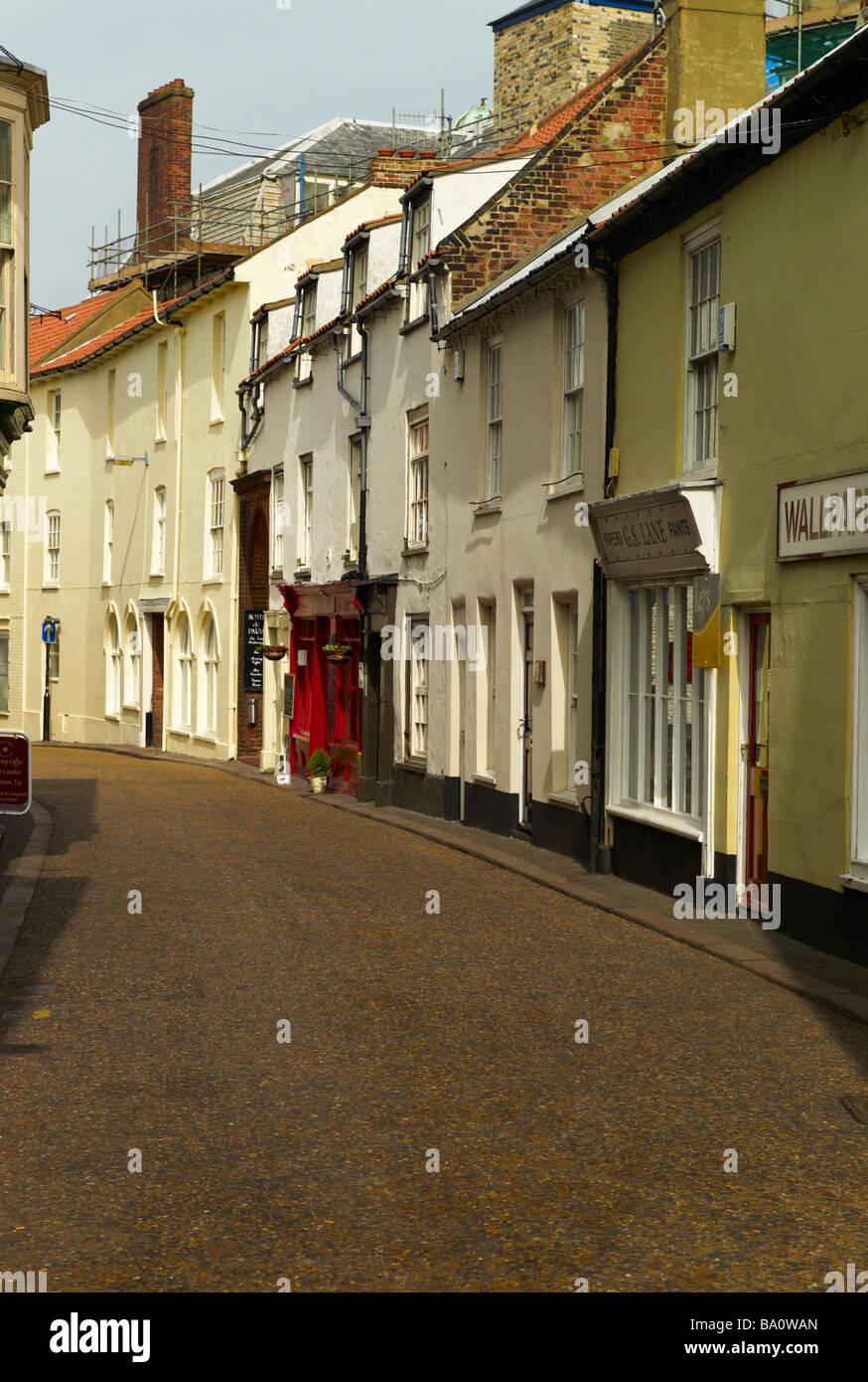 Deserted Street in Ealy Morning , Cromer - Stock Image