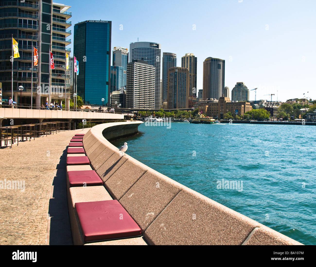 Sydney skyline Circular Quay NSW Australia - Stock Image