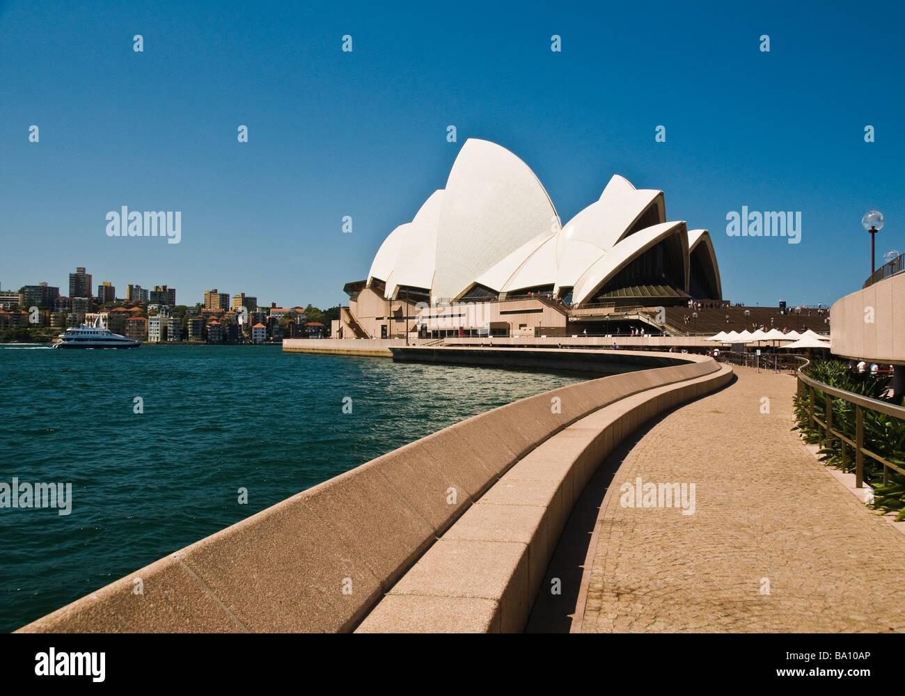 Opera House Circular Quay Sydney NSW Australia - Stock Image