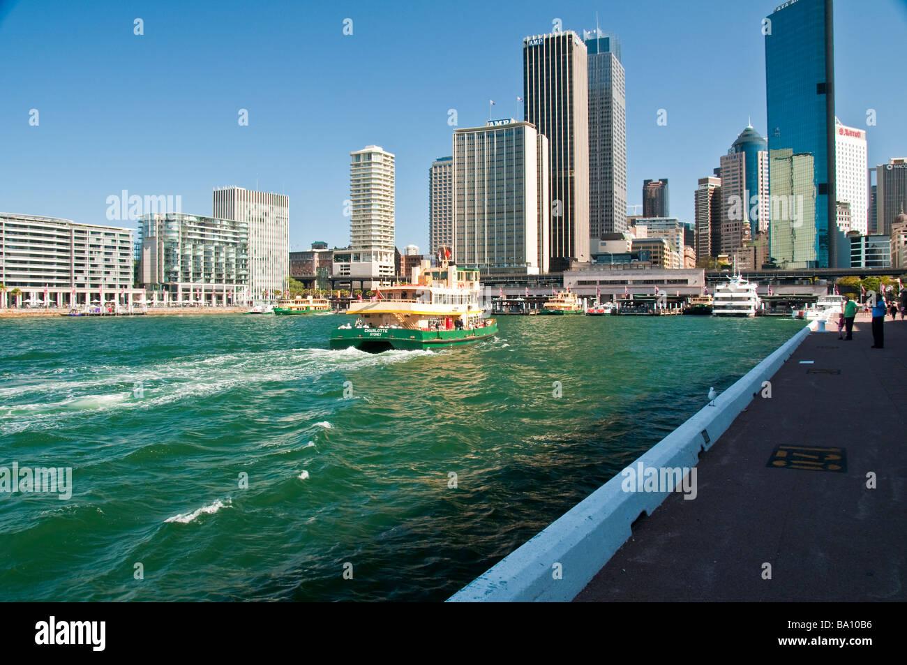 Sydney skyline Circular Quay Australia - Stock Image