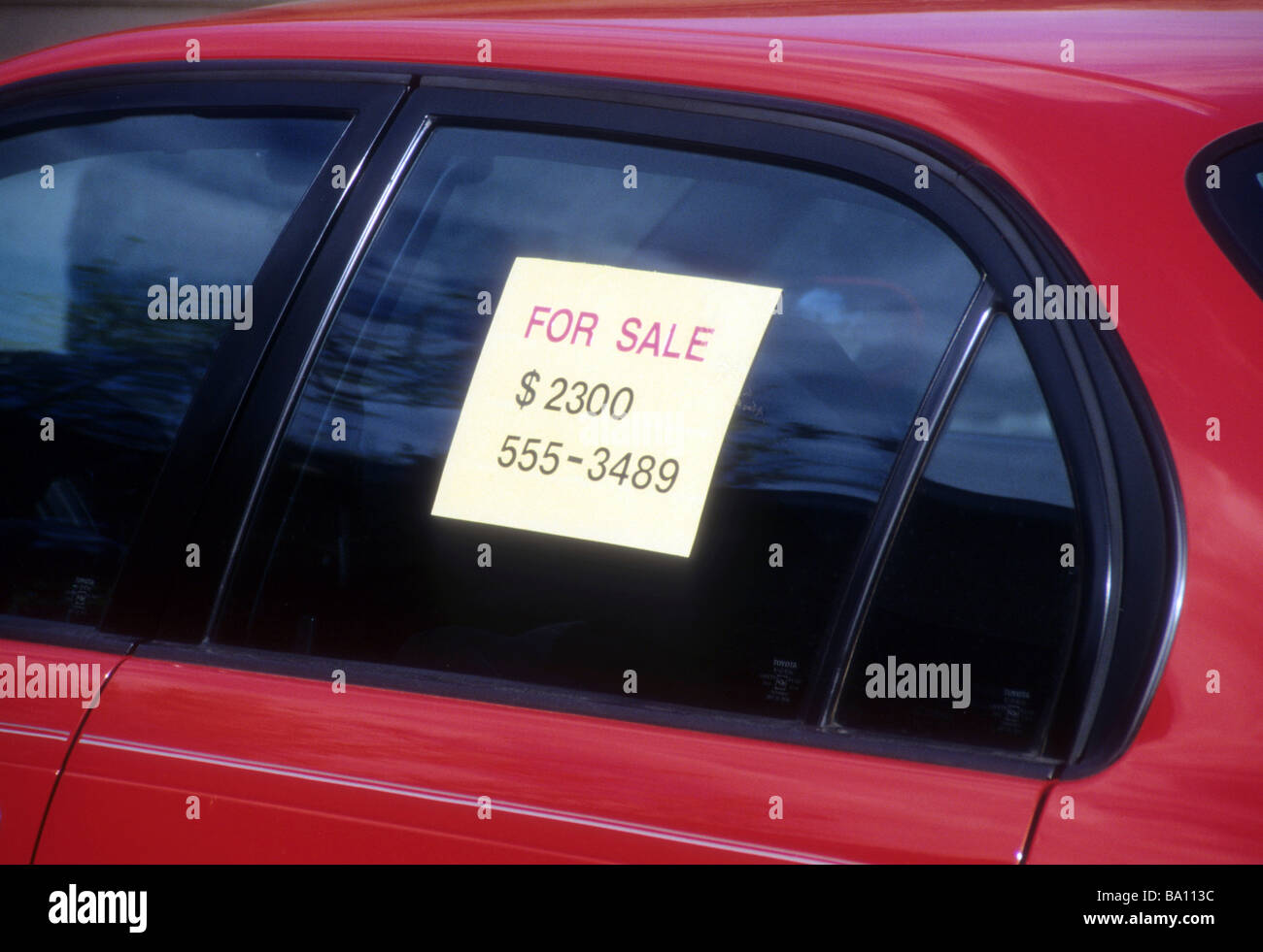 vehicle for sale signs