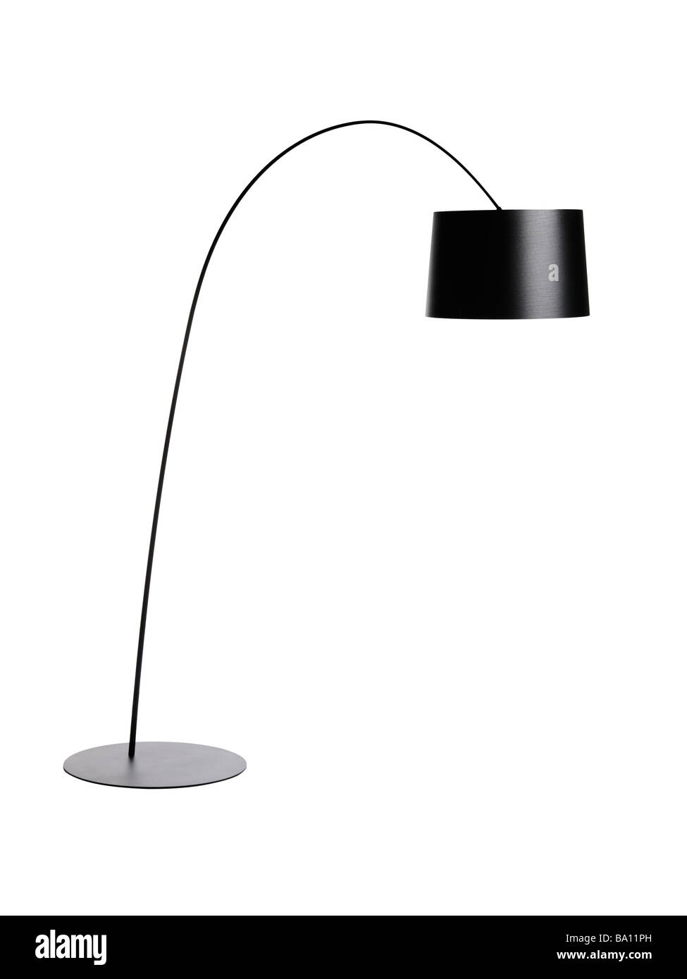 Black Floor arc Lamp - Stock Image