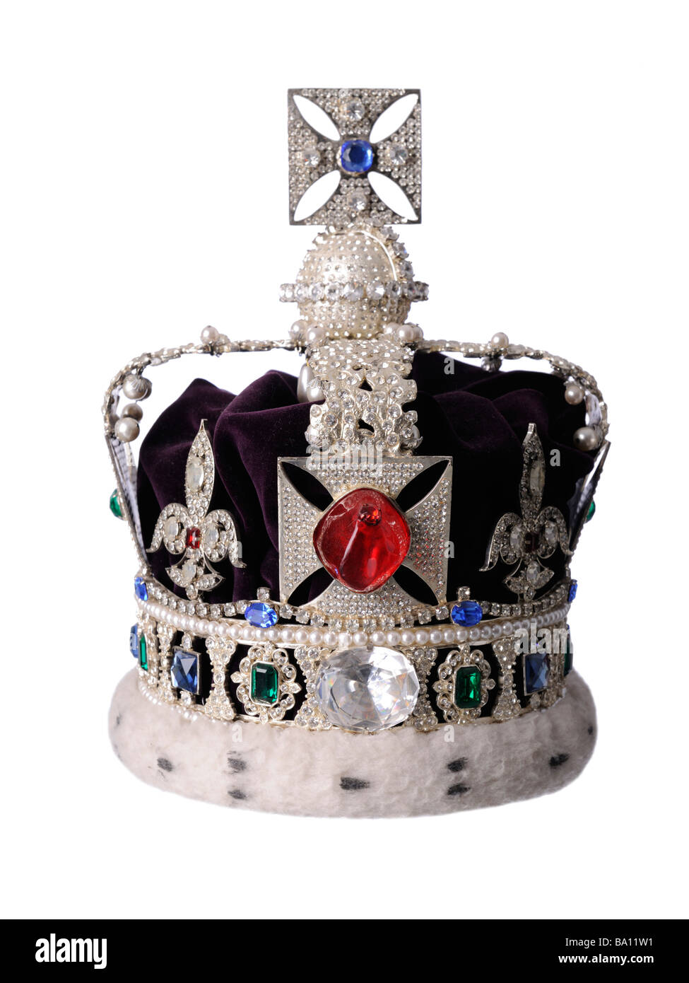Queens Royal Crown - Stock Image