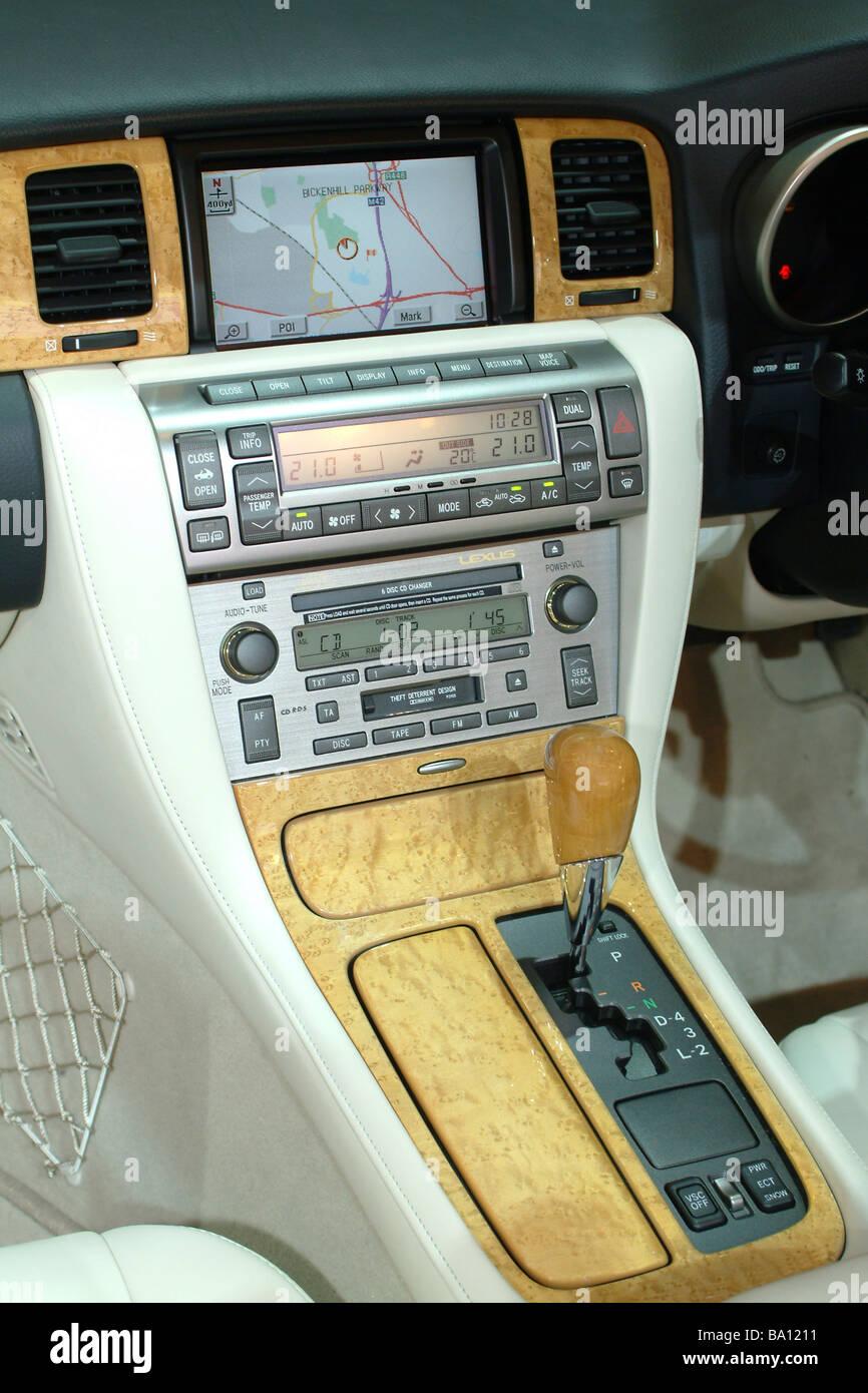 Car Dashboard Sat Nav Stock Photos & Car Dashboard Sat Nav