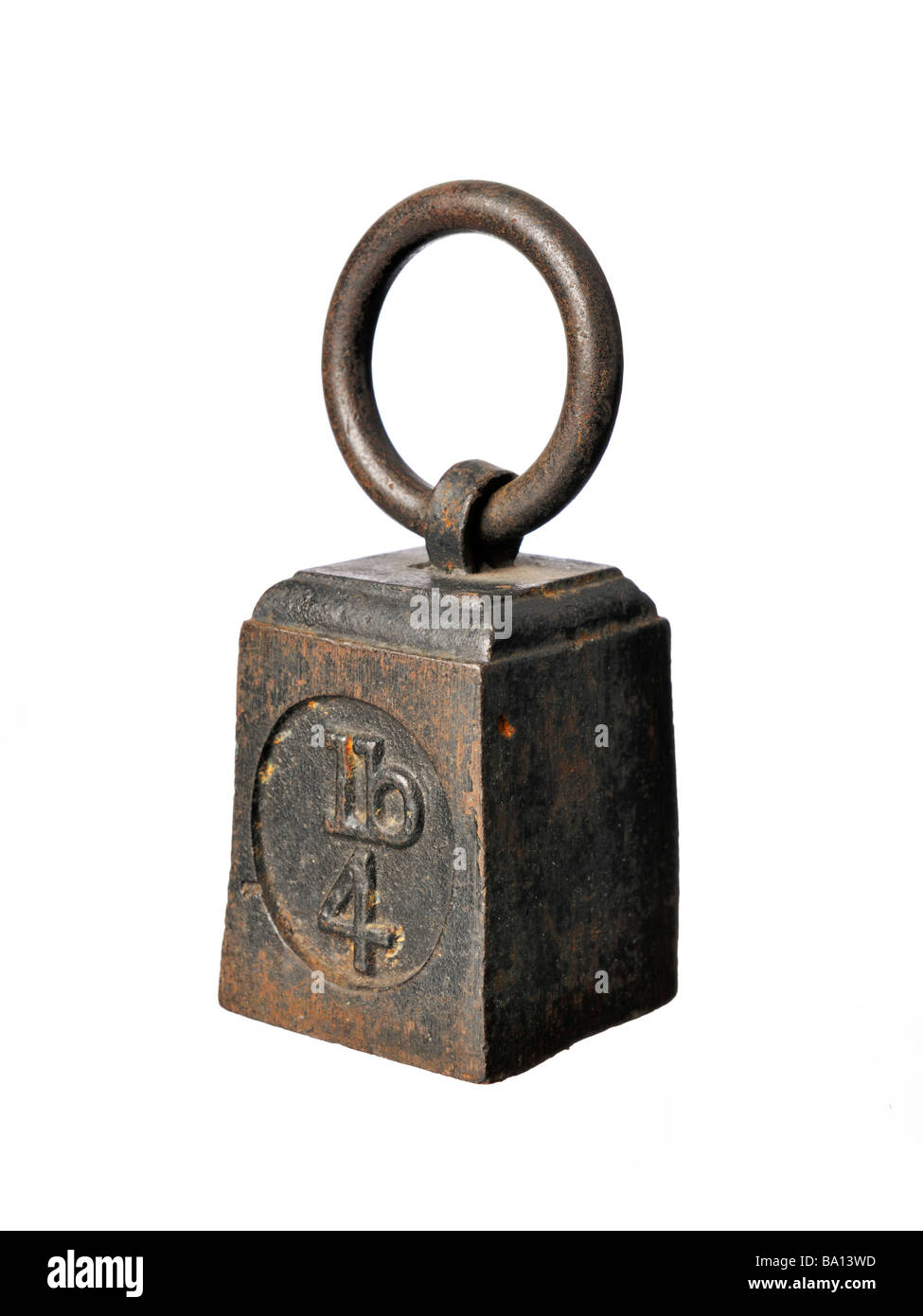 Old iron Imperial weights - Stock Image