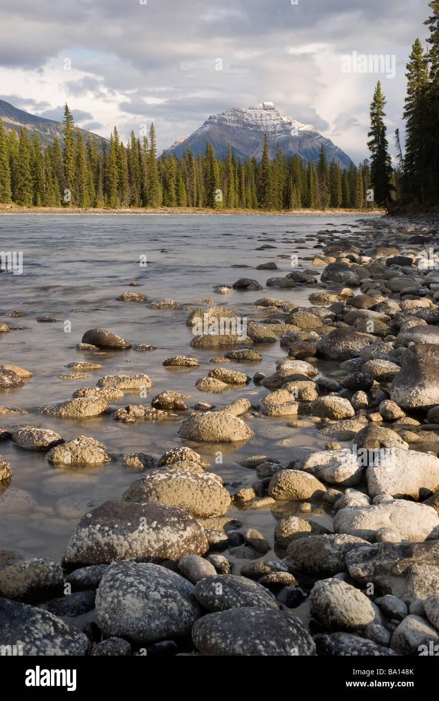 Mount Kerkeslin, Jasper, Alberta, Canada - Stock Image