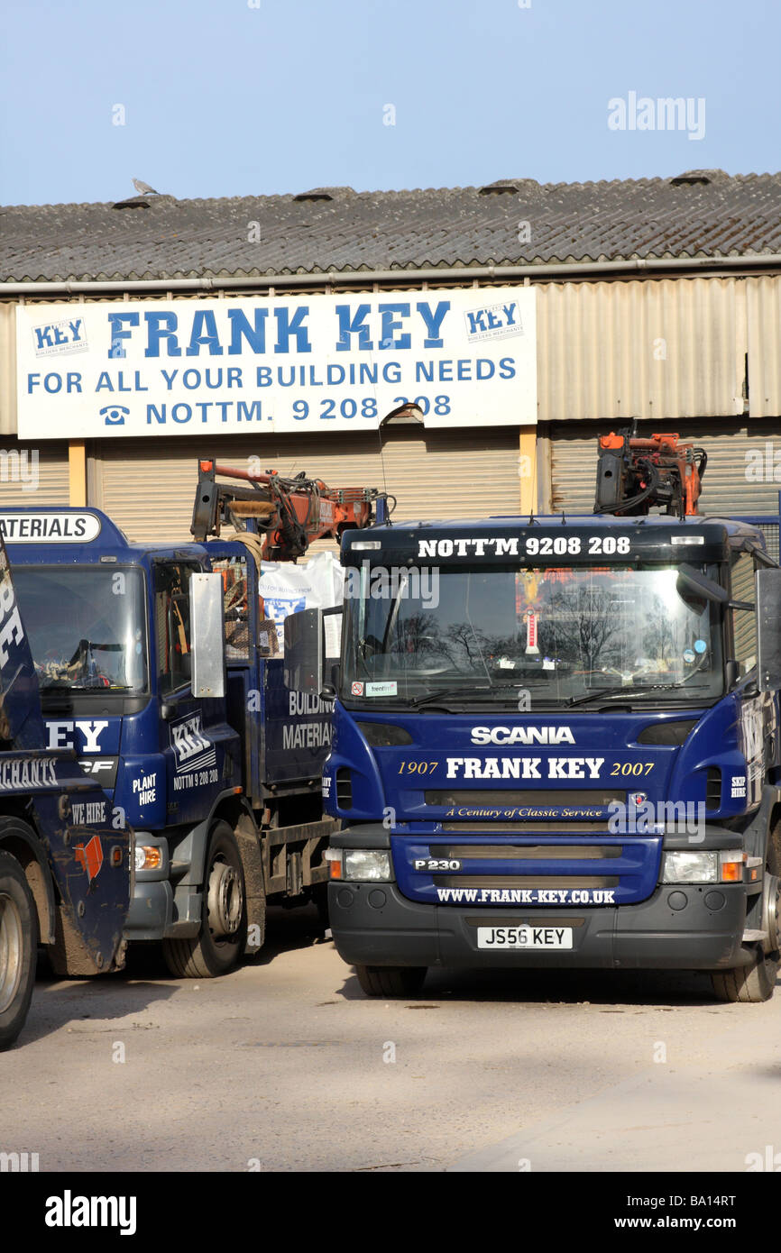 Frank Key builders merchants, Daybrook, Nottingham, England, U.K. - Stock Image