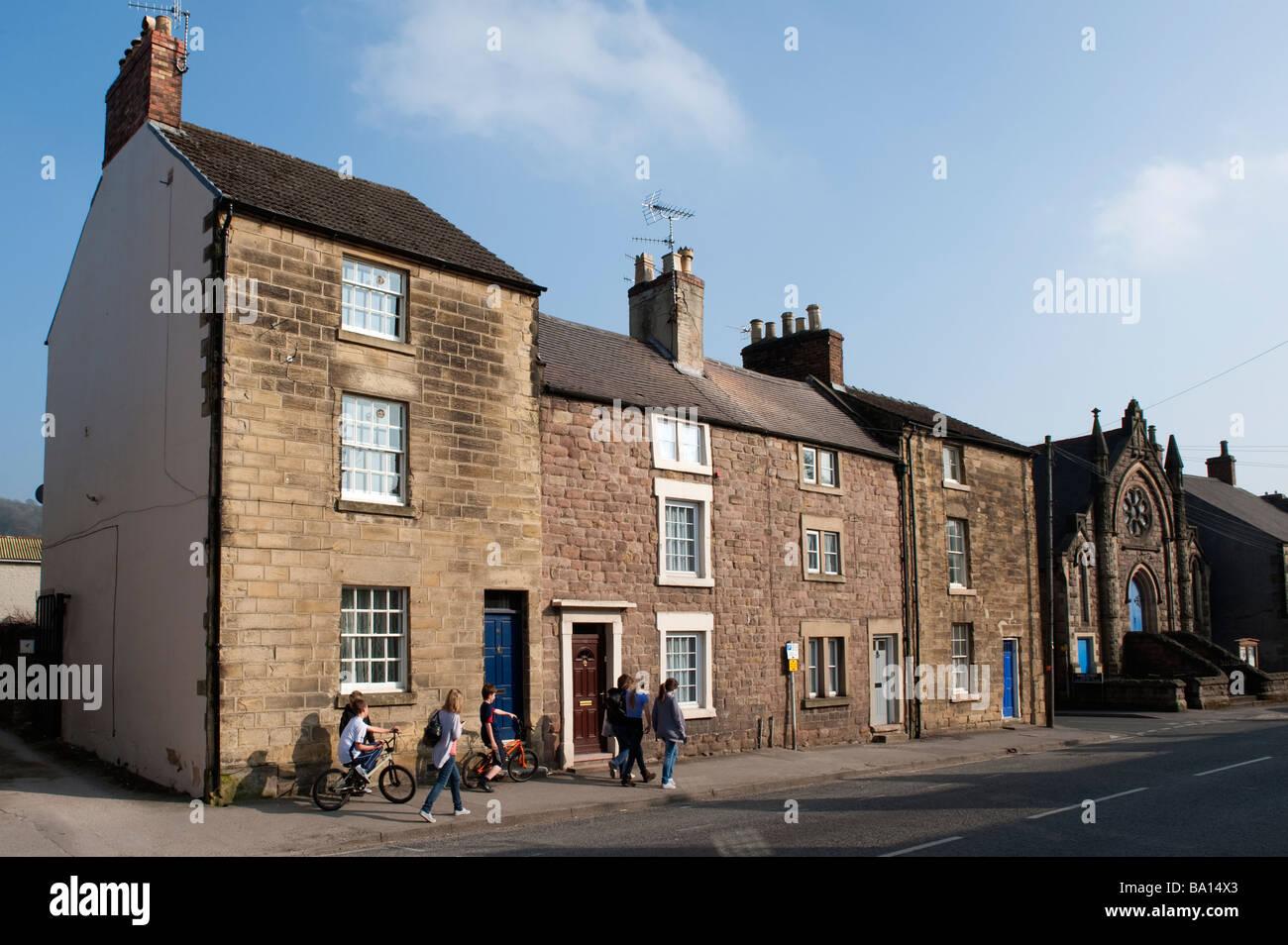 'St Johns Street' in Wirksworth,Derbyshire,  England, 'Great Britain', 'United Kingdom' - Stock Image