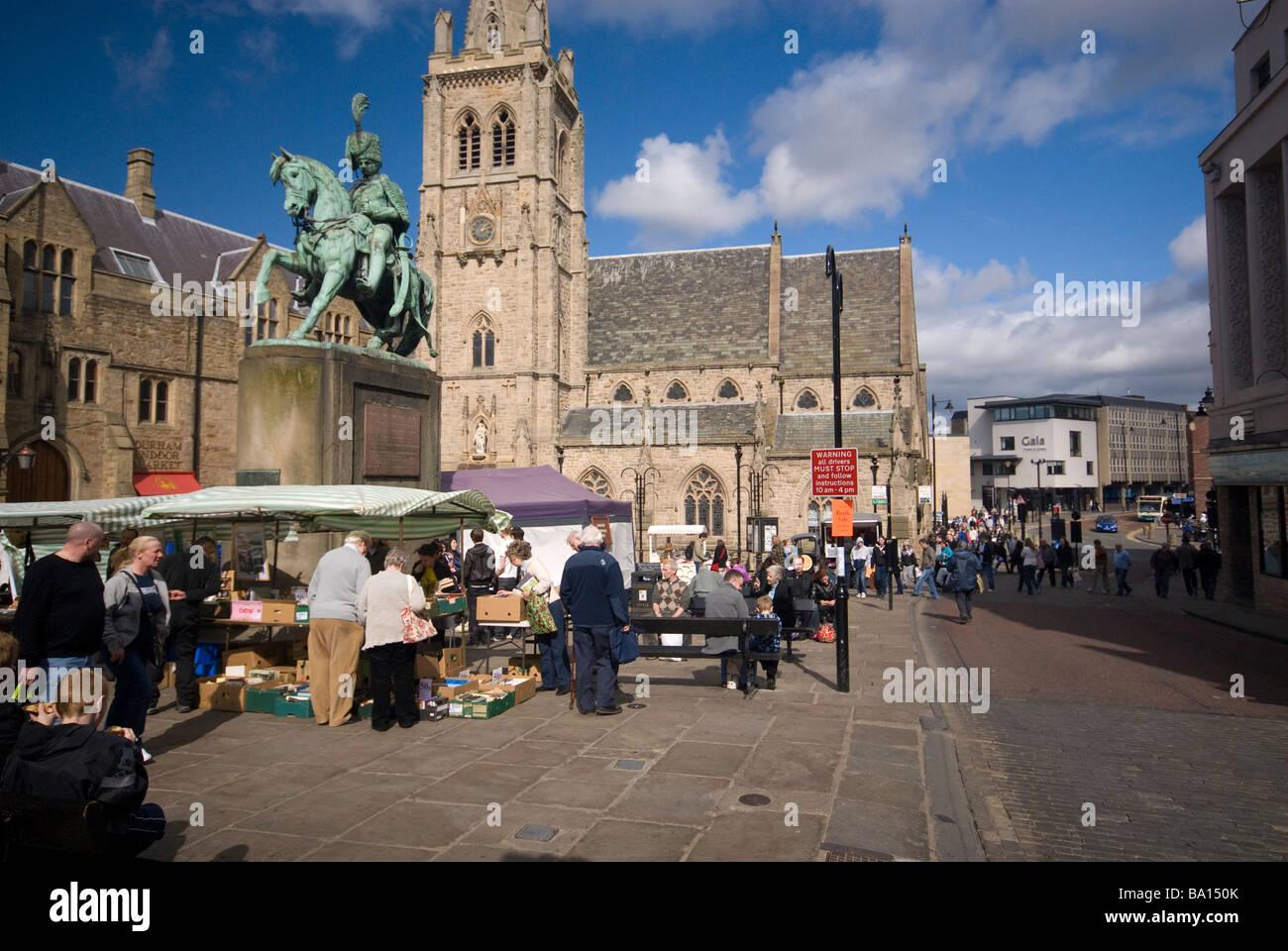 Durham City Centre Market Stock Photo 23382819 Alamy
