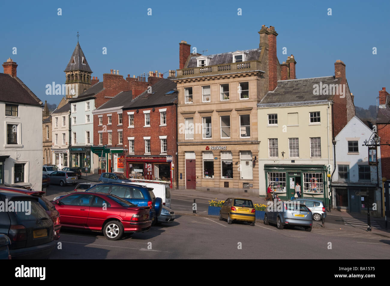 'Market Place' in Wirksworth, Derbyshire,  England, 'Great Britain', 'United Kingdom' - Stock Image