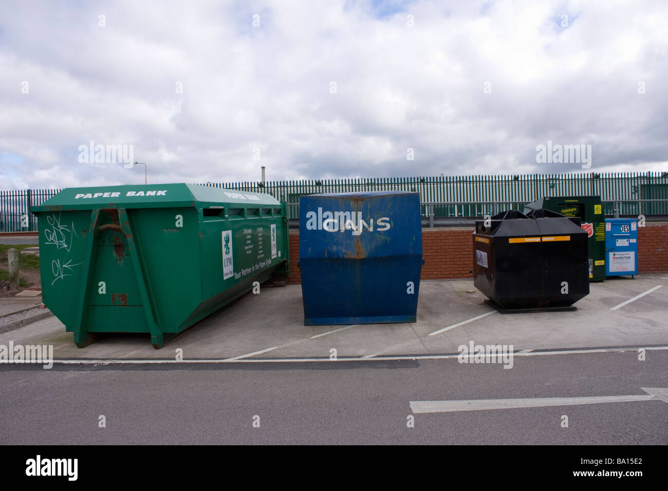Recycling Area - Stock Image