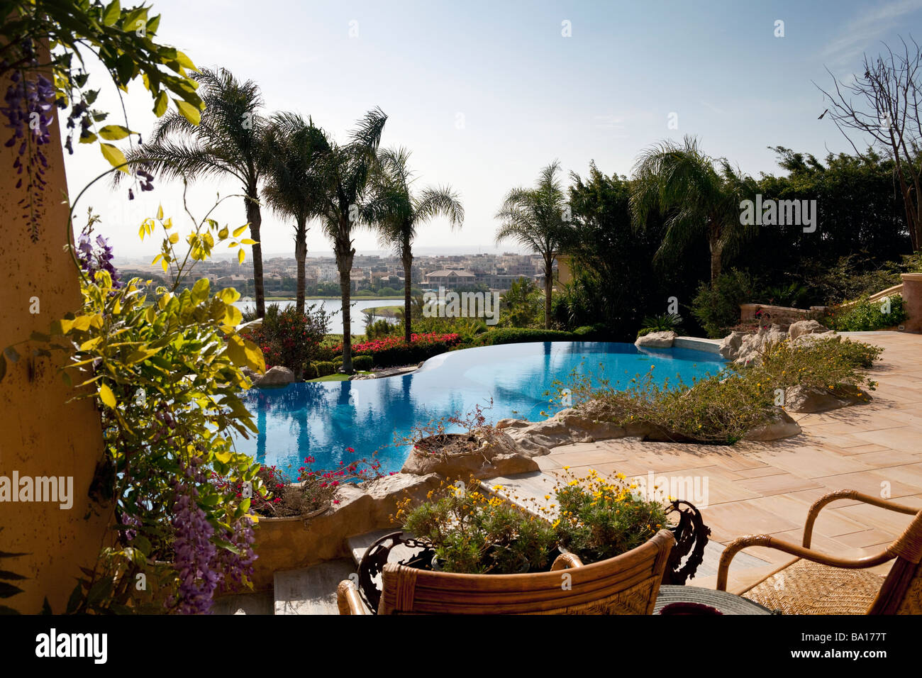 Katameya Heights golf course, New Cairo, Egypt - Stock Image