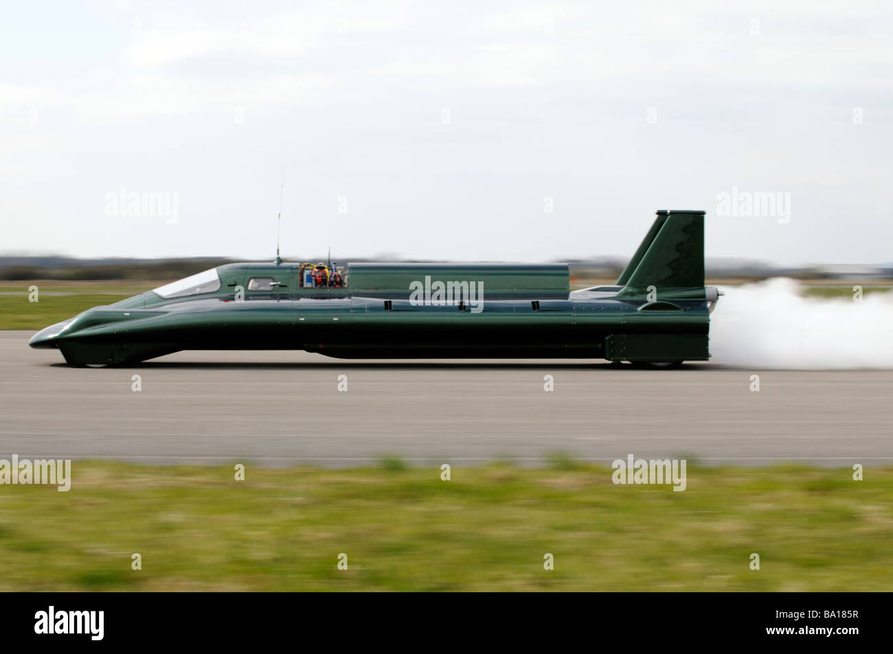 Inspiration the steam powered land speed record car undergoing a