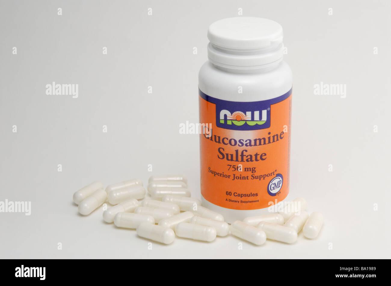Glucosamine sulfate capsules. - Stock Image