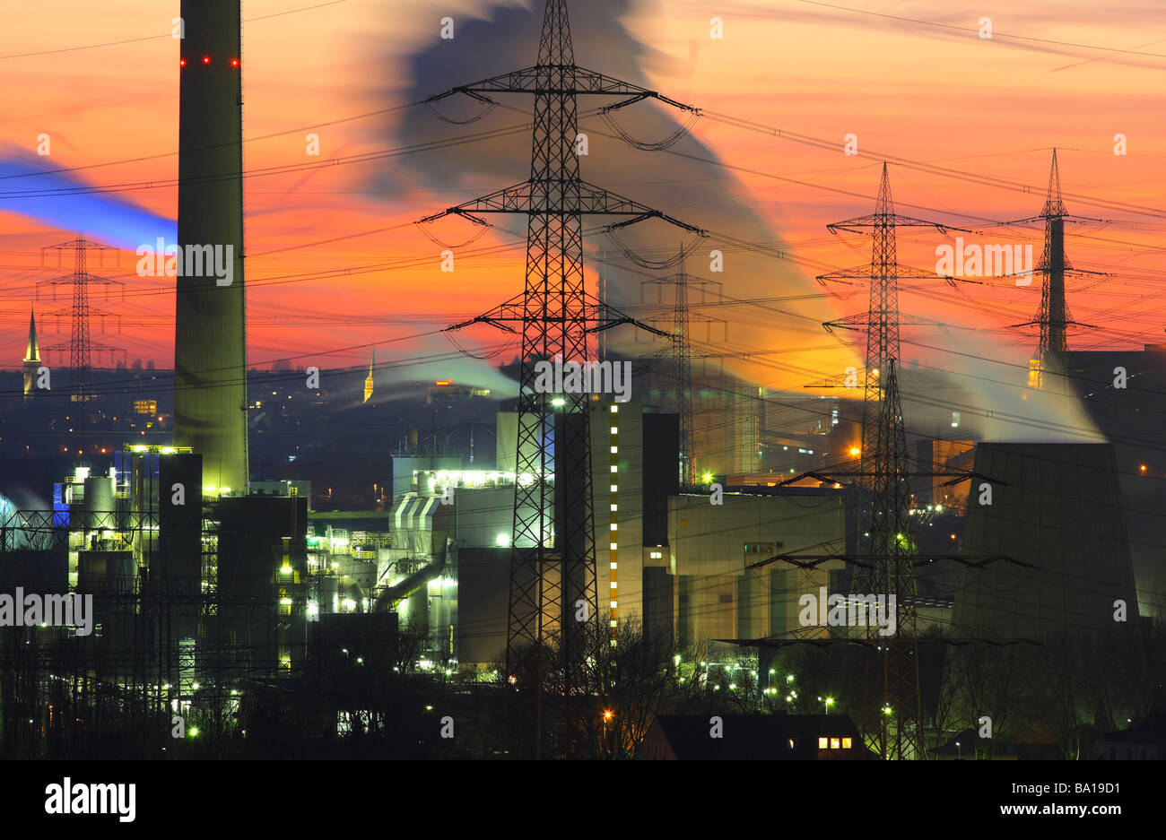 Waste incineration plant Essen Karnap of RWE Power AG Essen, Ruhr Area, Germany - Stock Image