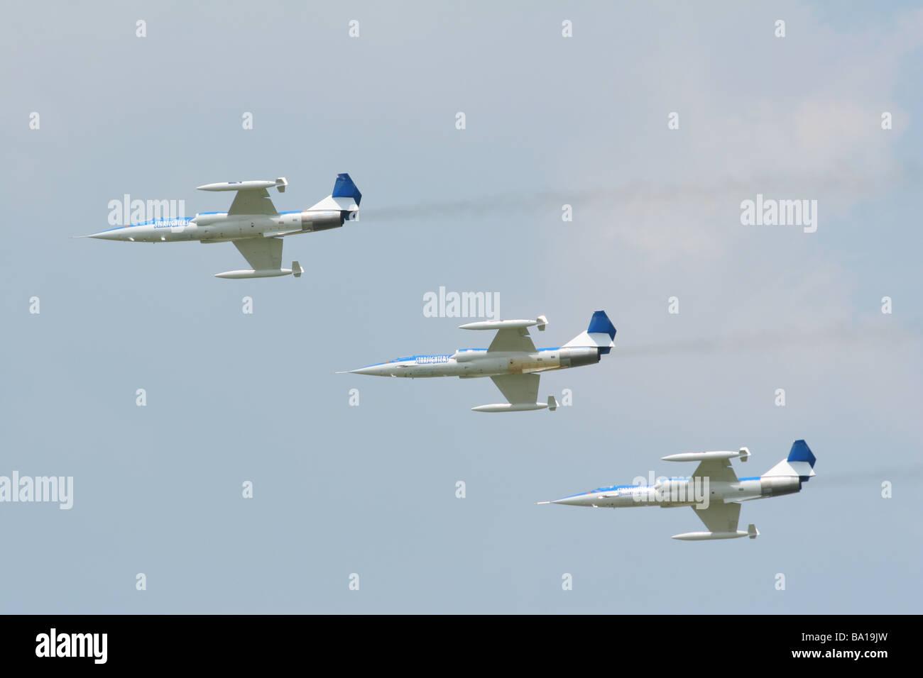 Starfighters Aerobatic Team in F 104 Airplanes Dayton Air Show Vandalia Ohio - Stock Image