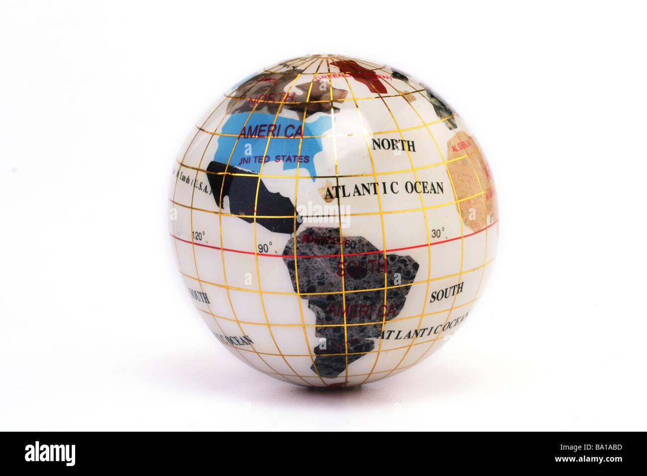 Globe showing the world - Stock Image