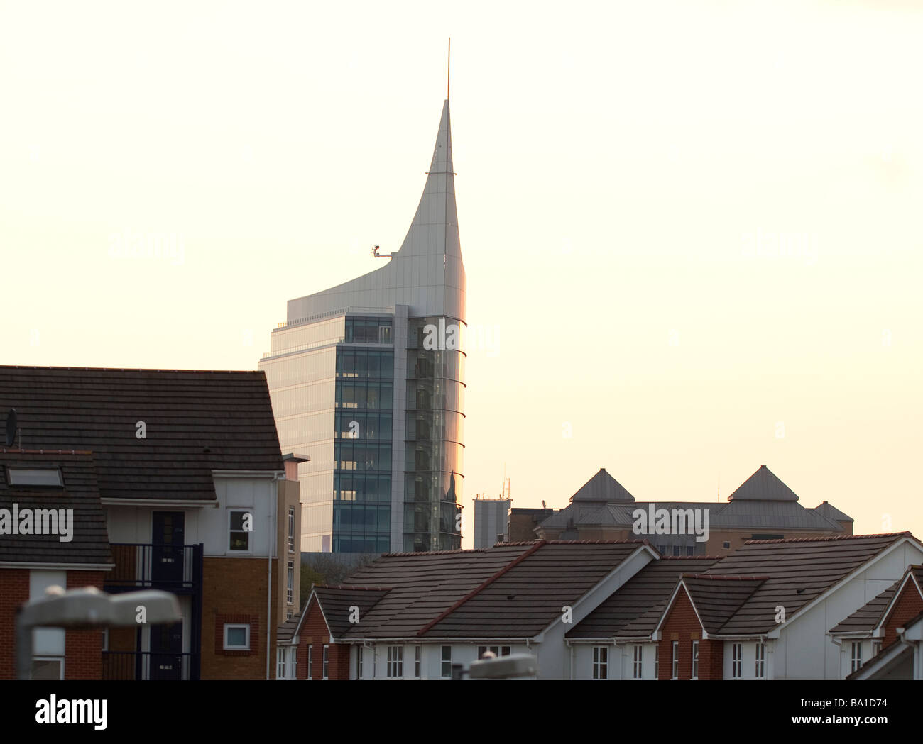 The tallest building in Reading is 'The Blade' - Stock Image