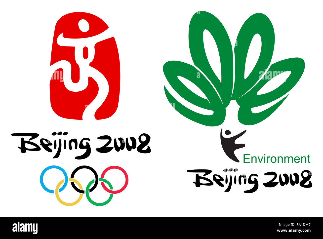 Beijing Olympic Logo Cut Out Stock Images Pictures Alamy