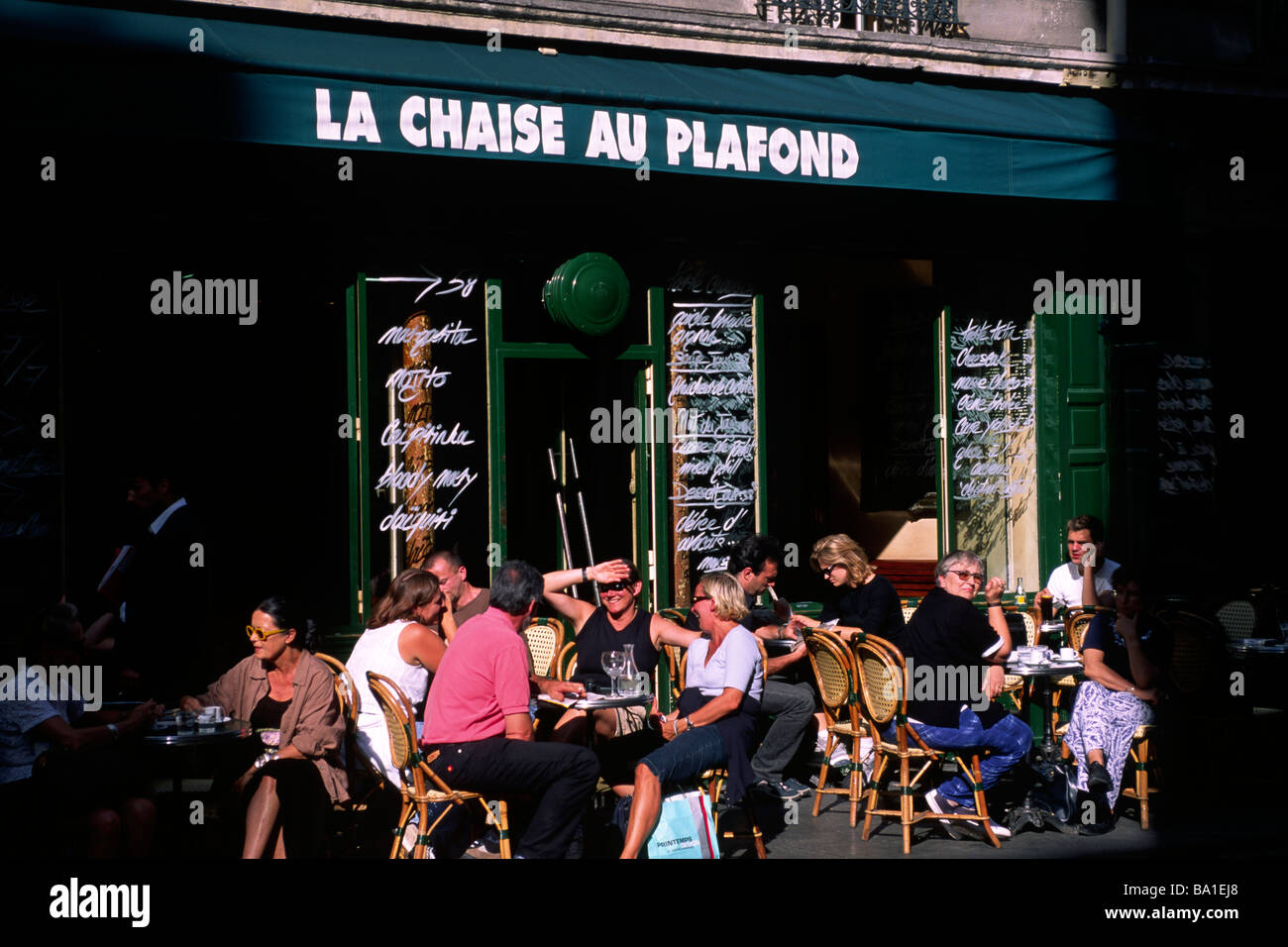 Paris Marais Cafe La Chaise Au Plafond