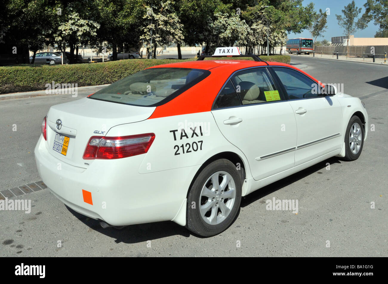 Bahrain taxi cab Stock Photo