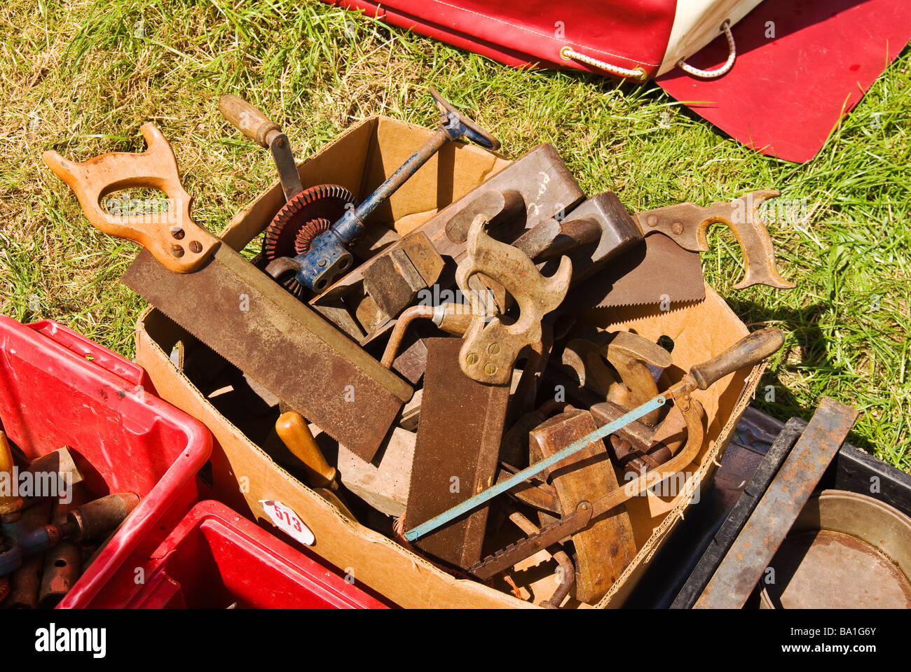 Old Woodworking Hand Tools For Sale Stock Photo 23391619