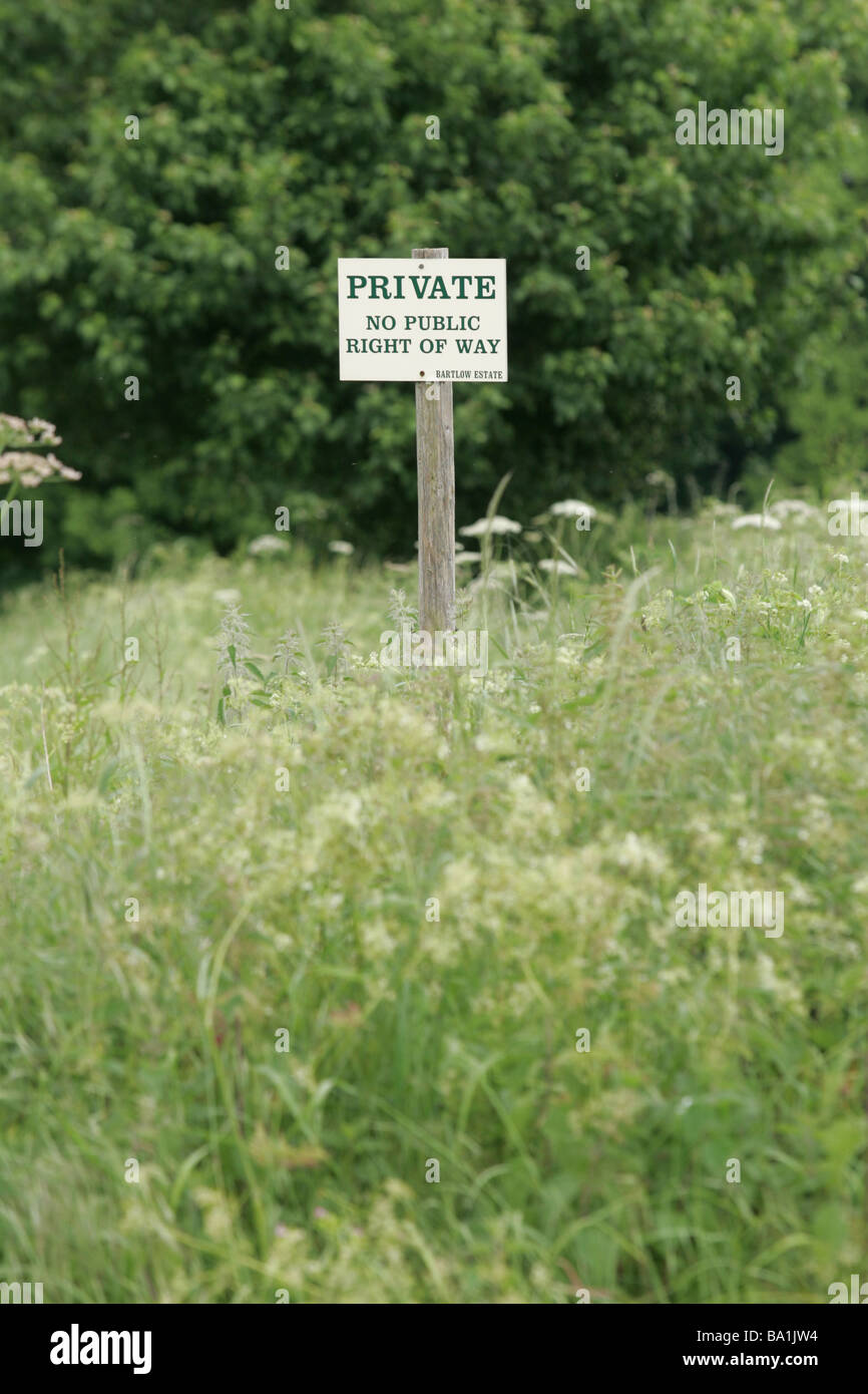 Private Land Sign - Stock Image