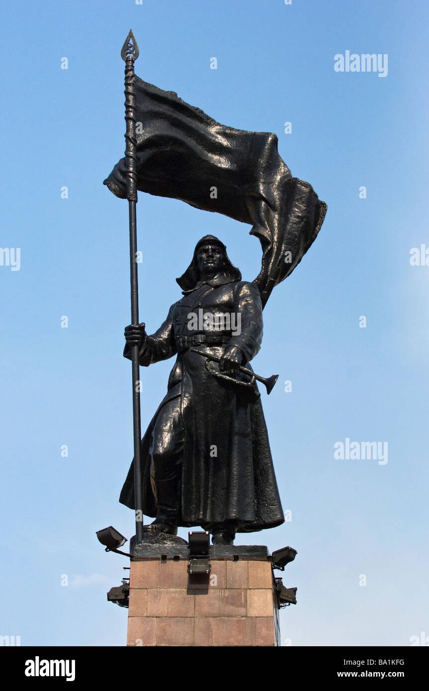 Monument to the Conquerors of the Czechoslovakian Legion. Central Square, Vladivostok, Russia. - Stock Image