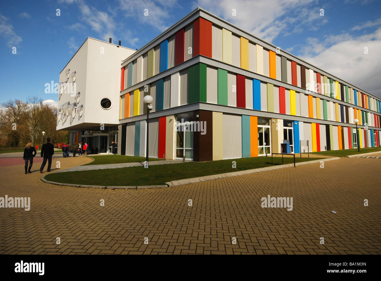 colourful school building of Niekee educational centre Roermond Netherlands - Stock Image