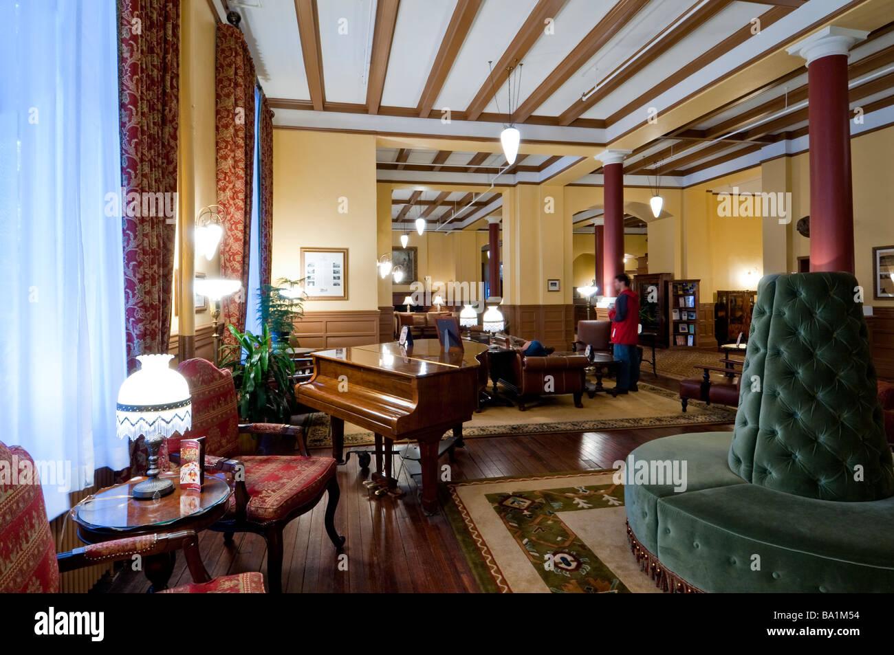 lobby of hotel colorado glenwood springs colorado stock. Black Bedroom Furniture Sets. Home Design Ideas