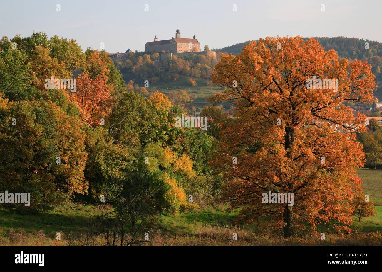 Castle Plassenburg at Kulmbach Upper Frankonia Bavaria Germany - Stock Image