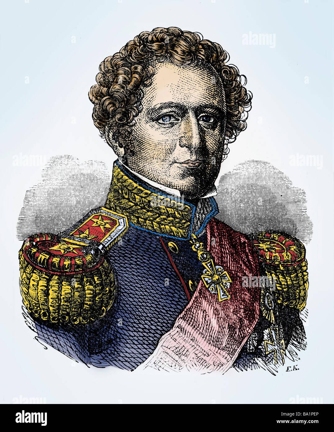 Christian VIII, 18.9.1786 - 20.1.1848, King of Denmark 3.12.1839 - 10.1.1848, portrait, engraving, 19th century, Stock Photo