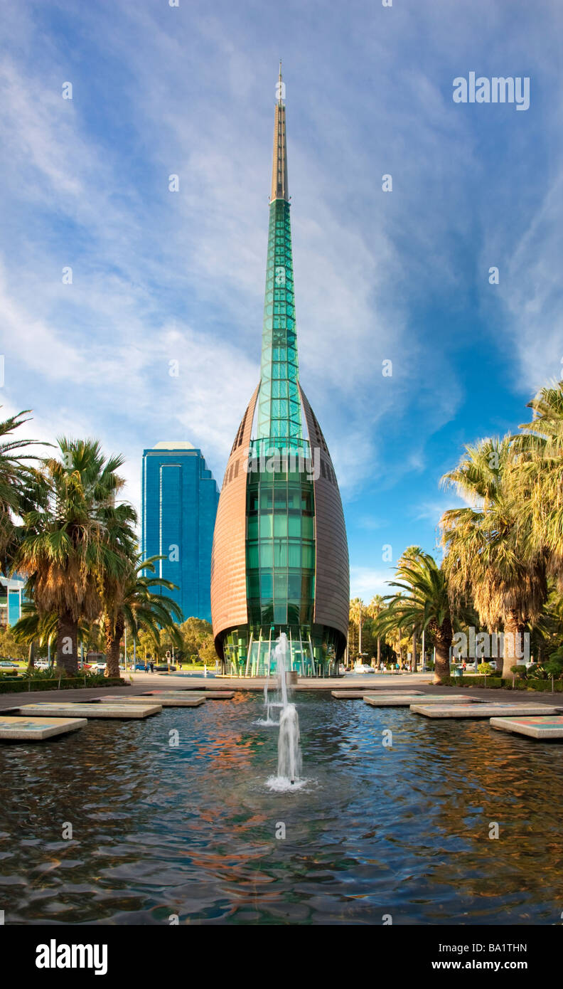 Swan Bell Tower at Barrack Square in Perth, Australia - Stock Image
