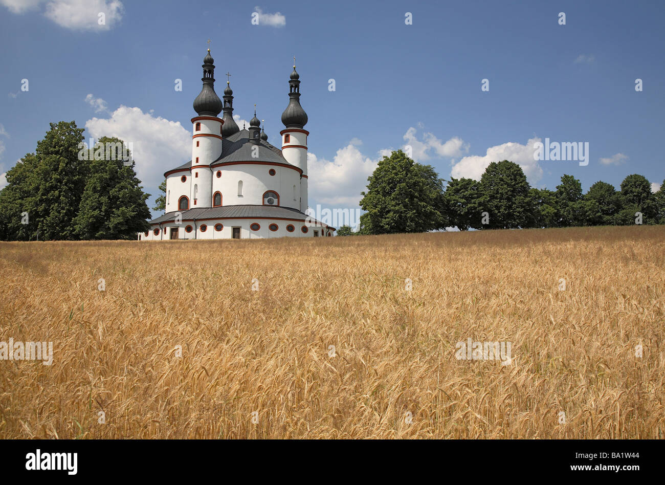 The pilgrimchurch of Kappl near Waldsassen Upper Palatinate Bavaria Germany - Stock Image