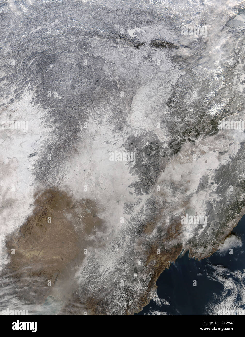 January 3, 2009 - Northeastern China - Stock Image
