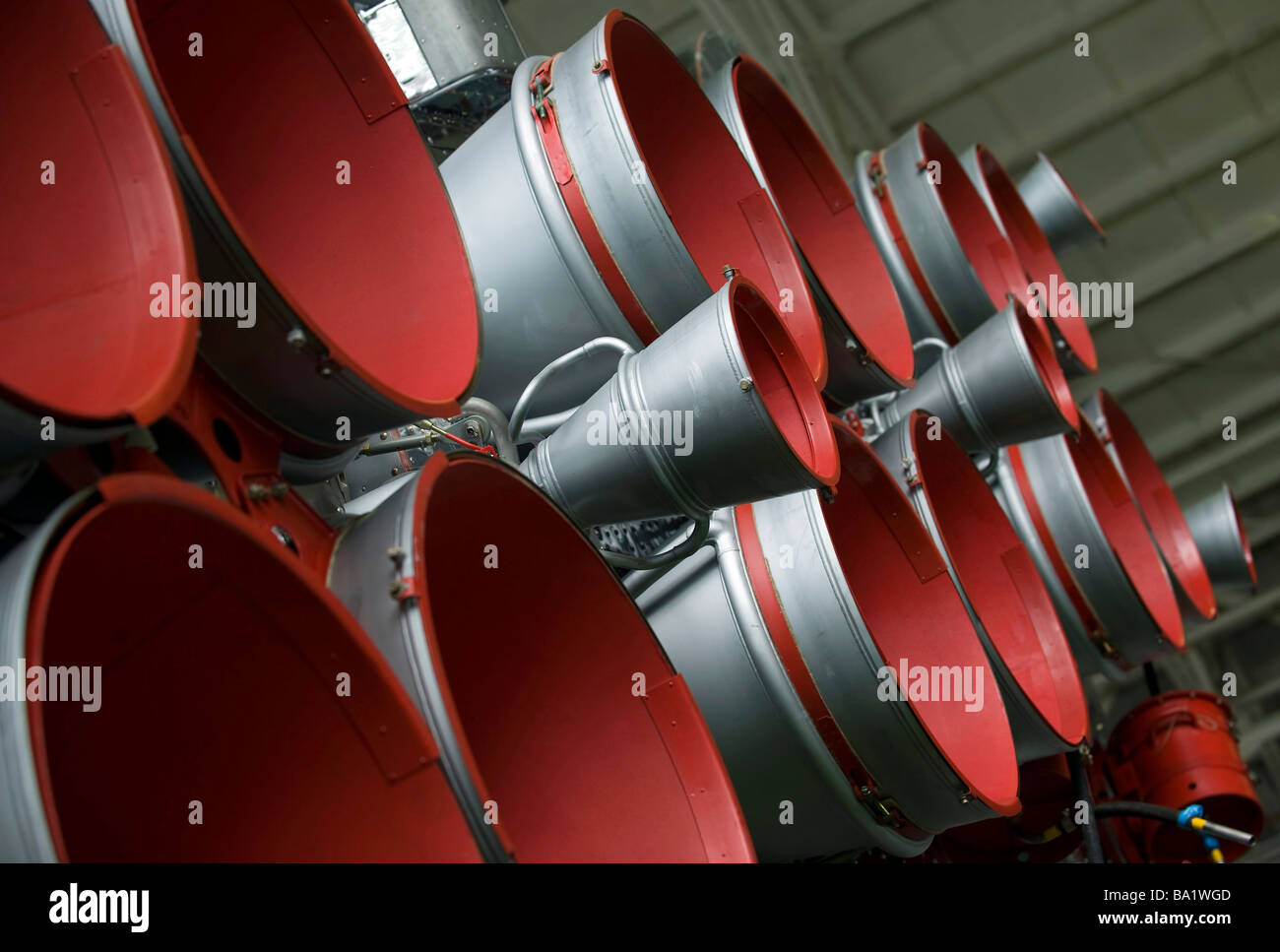 The boosters of the Soyuz TMA-14 spacecraft. - Stock Image
