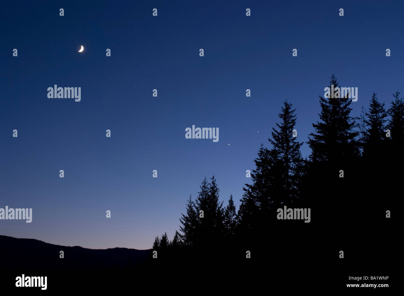 Venus Jupiter Conjunction Stock Photos & Venus Jupiter