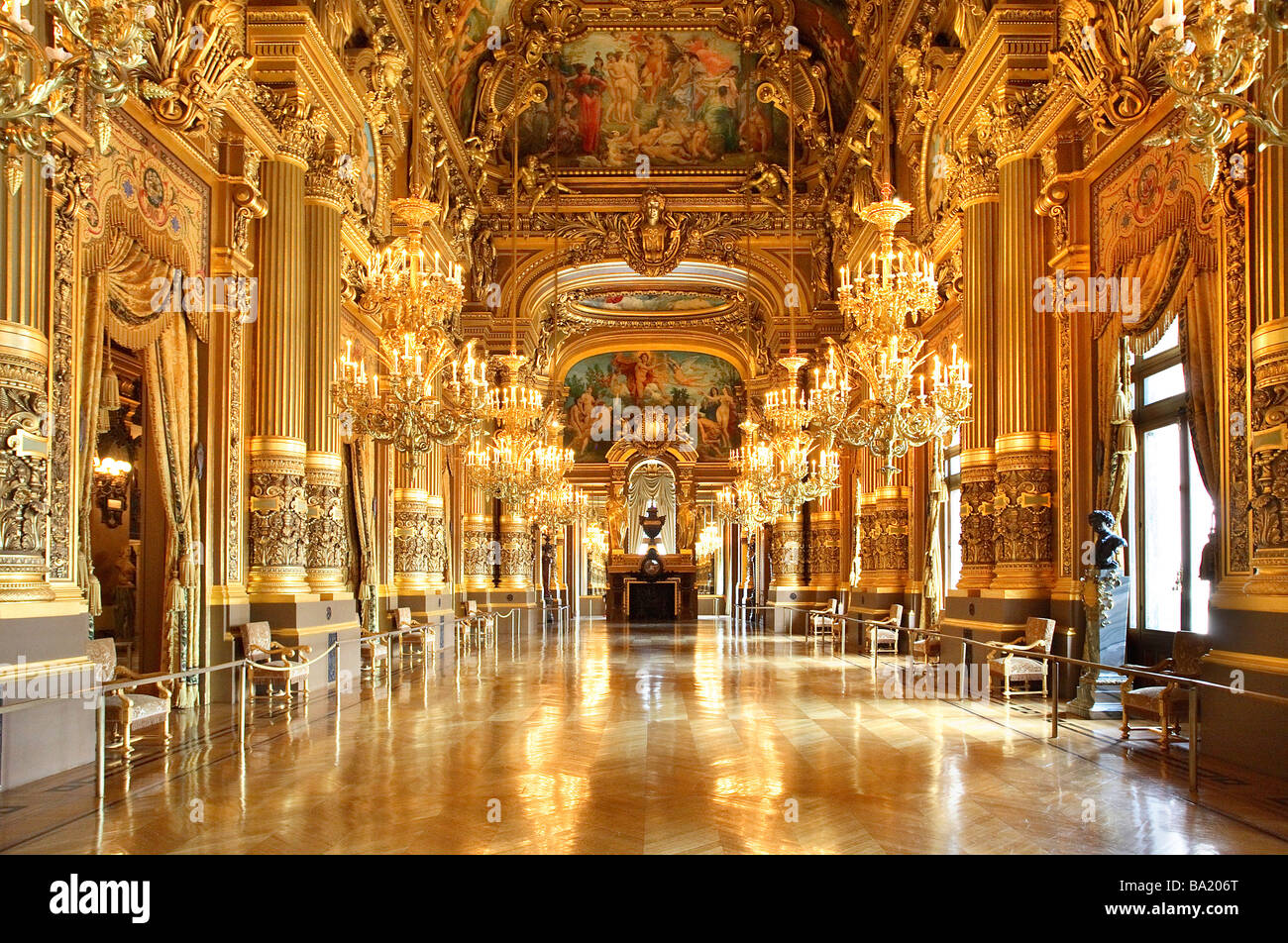 The Grand Foyer Palais Garnier : Grand foyer opera garnier paris stock photo alamy