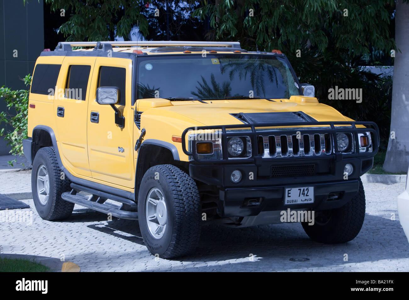 A Hummer in Dubai - Stock Image
