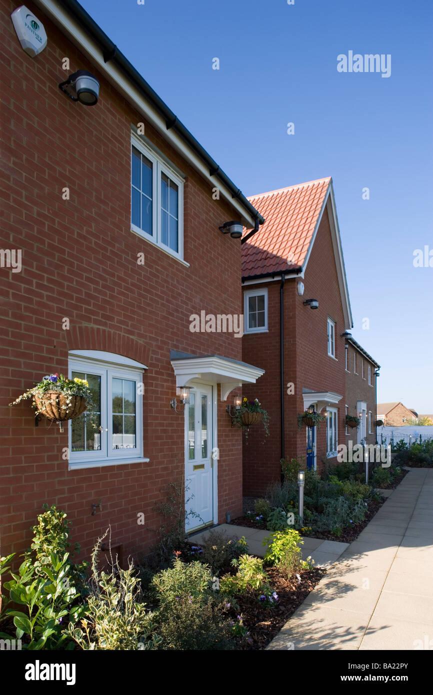 Front elevation Modern detached house Essex England - Stock Image