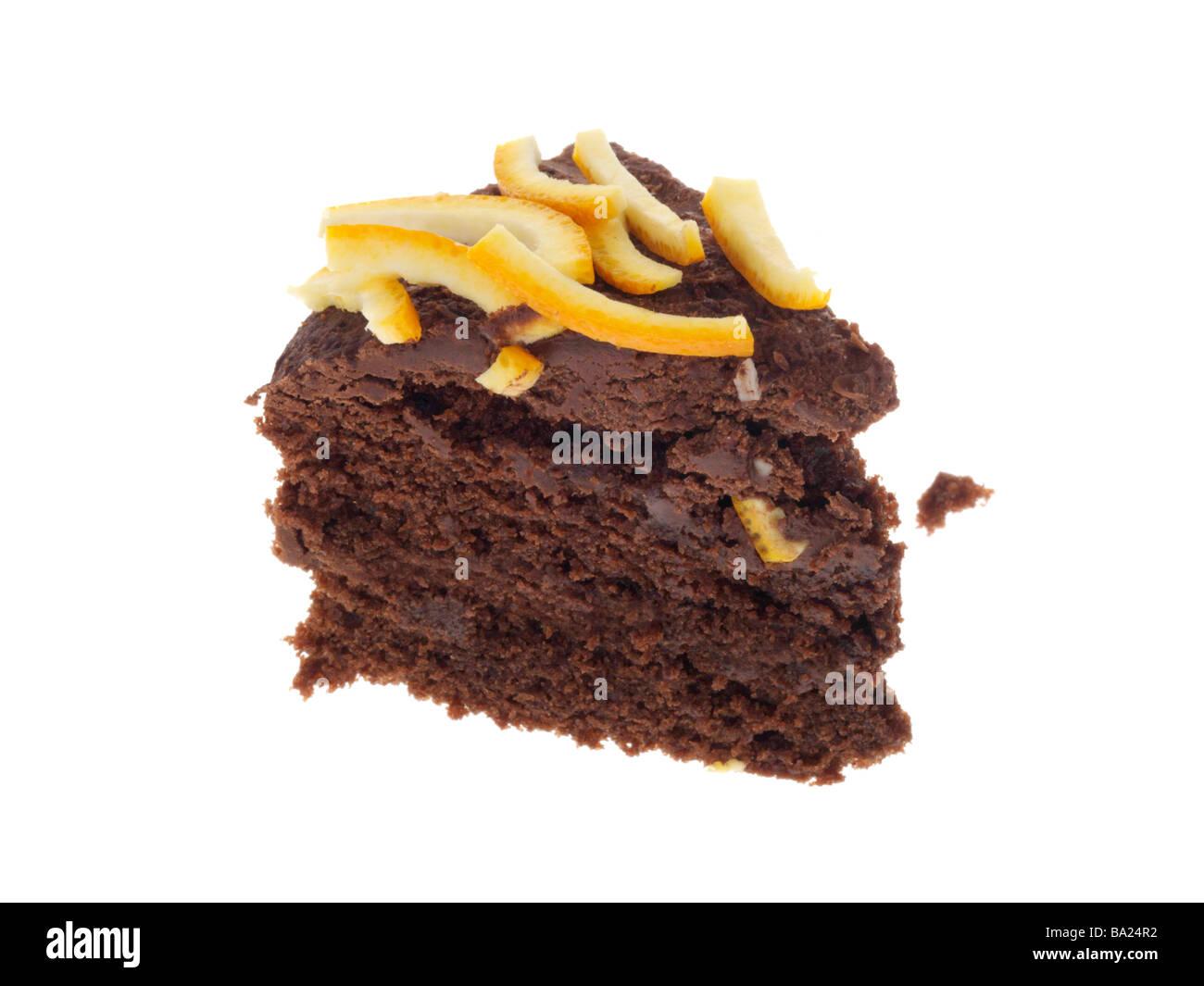 Chocolate Cake with Orange Rind - Stock Image