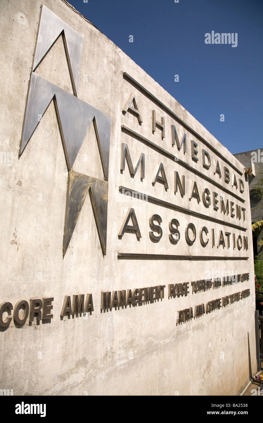 The entrance to the Ahmedabad Management Association in Ahmedabad, Gujarat. - Stock Image