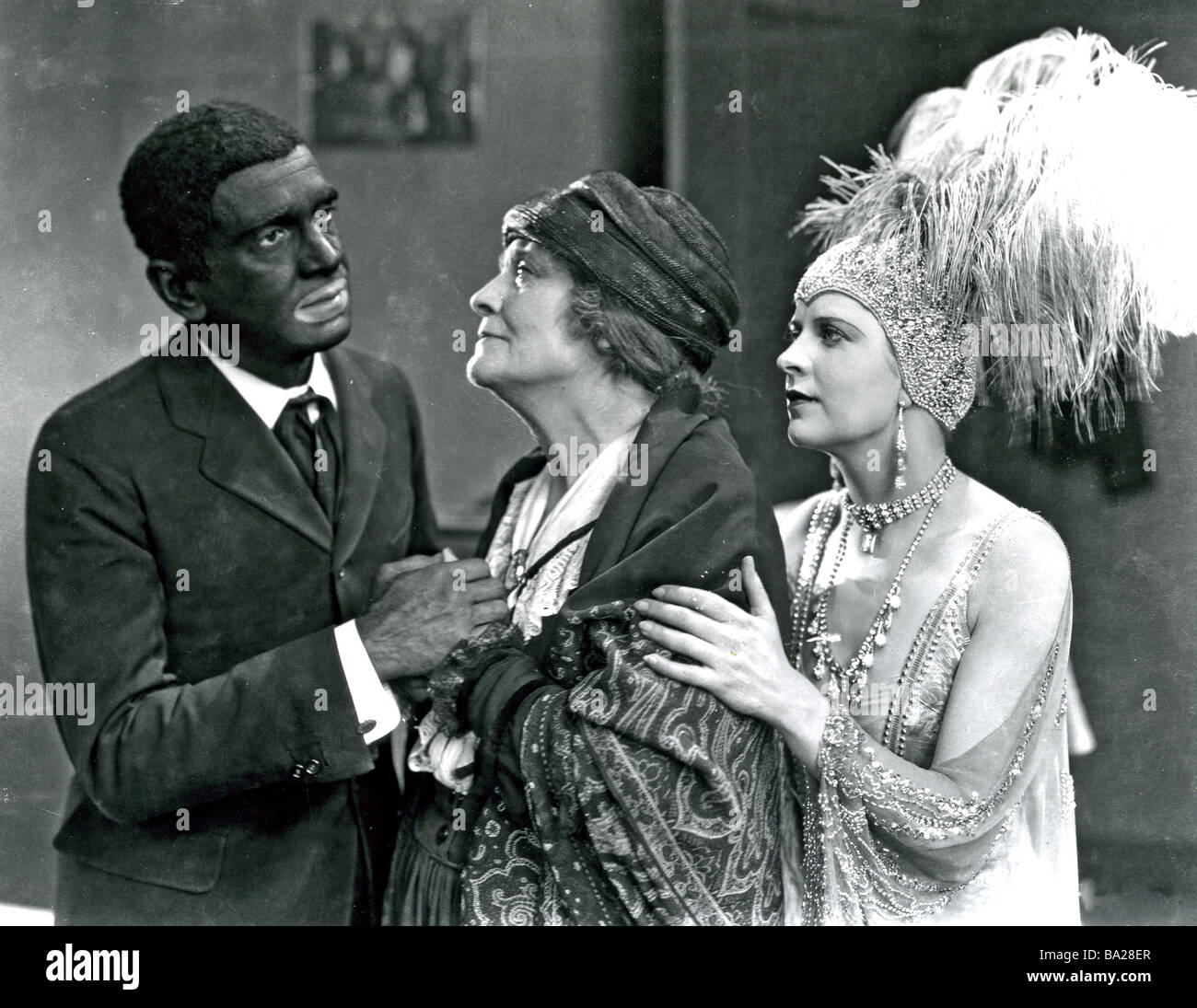 THE JAZZ SINGER 1927 Warner film with Al Jolson, Eugenie Besserer and Mary  McAvoy -