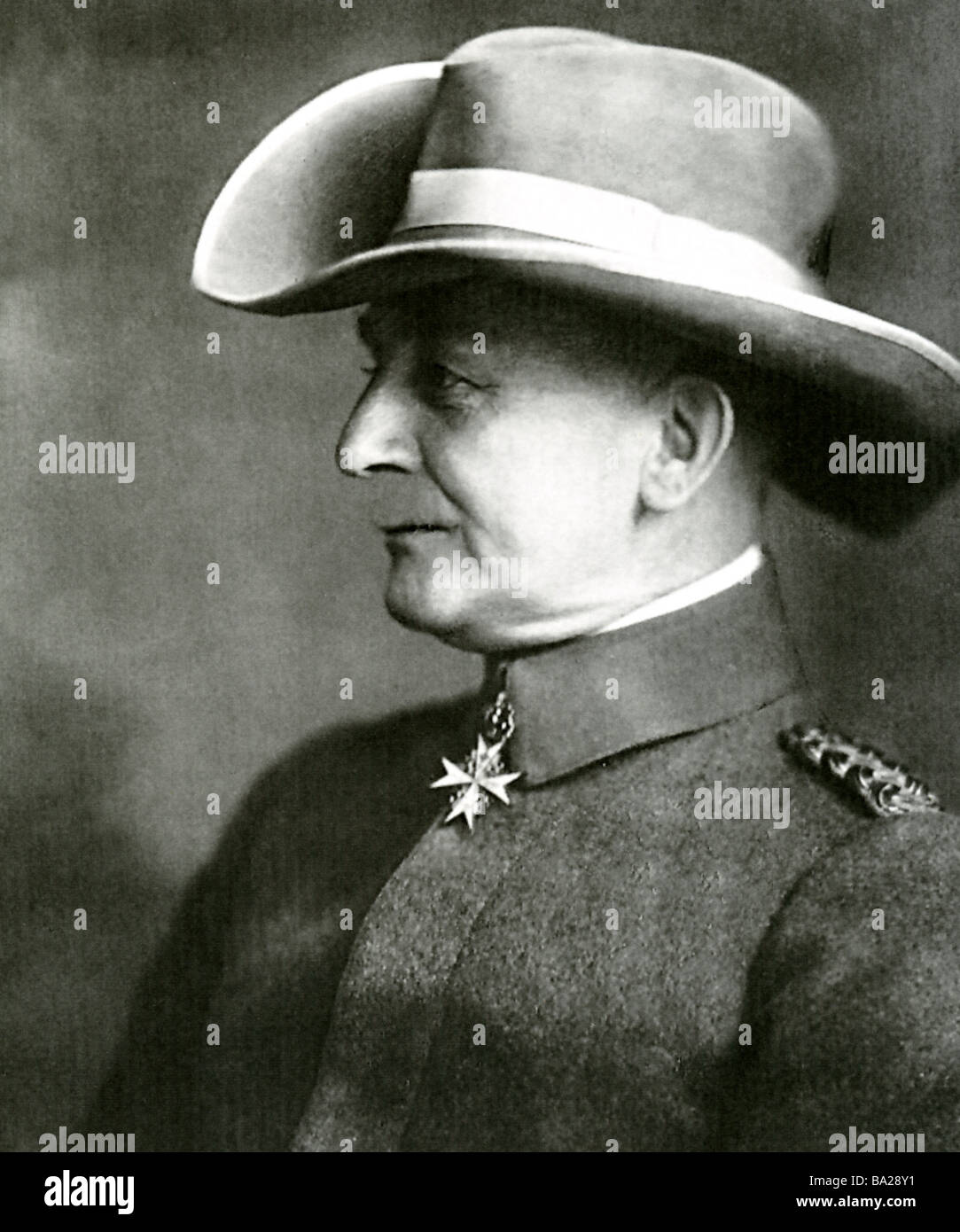 PAUL EMIL von LETTOW-VORBECK  (1870 - 1964) General who commanded the German forces in East Africa during World - Stock Image