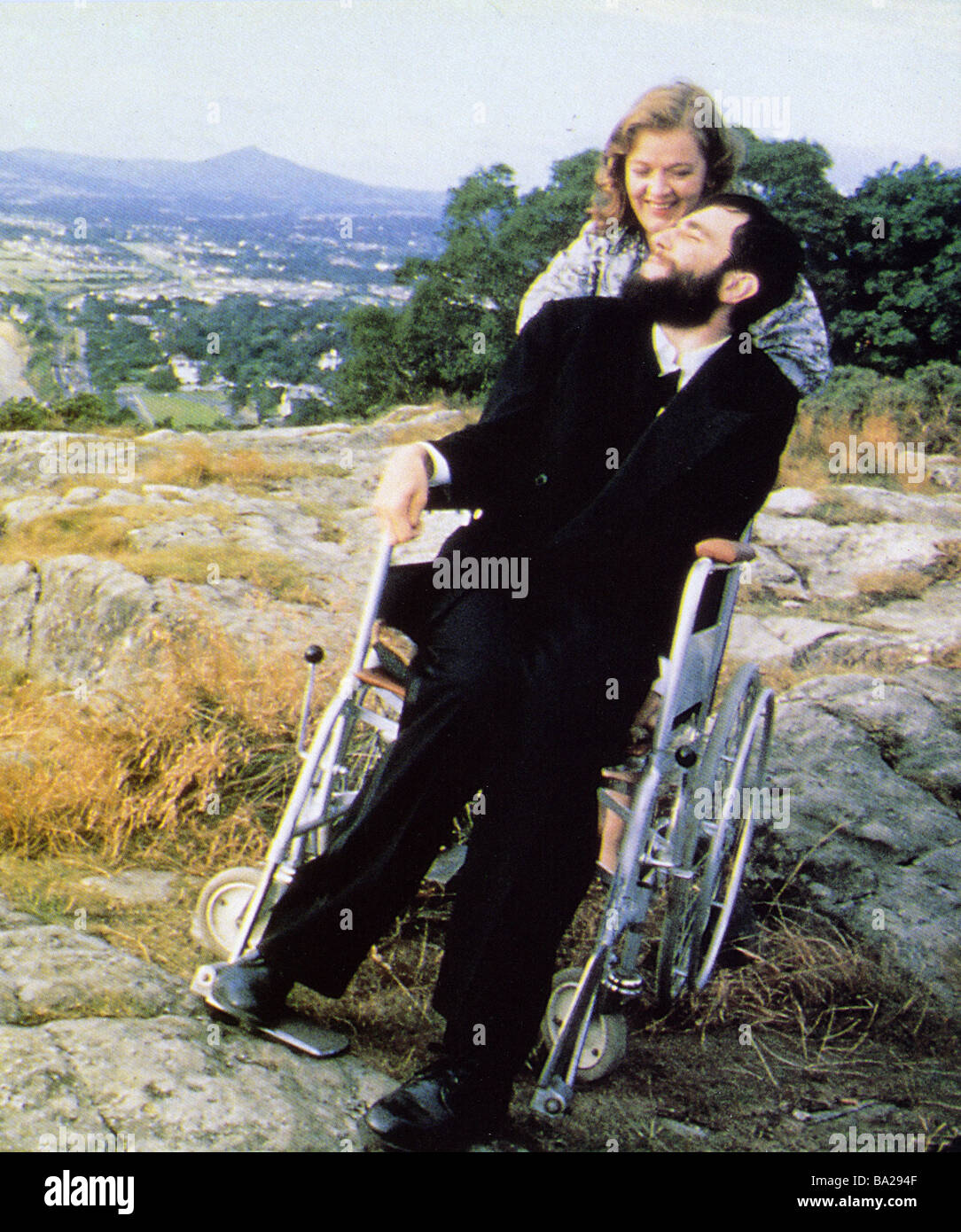 MY LEFT FOOT 1989 Palace film with Daniel Day-Lewis and Brenda Fricker - Stock Image