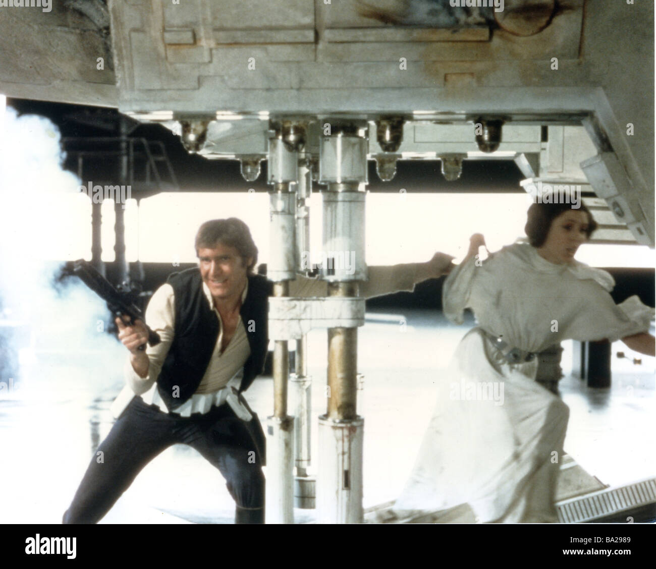 STAR WARS : EPISODE IV - A NEW HOPE 1977 TCF film with Carrie Fisher and Harrison Ford - Stock Image