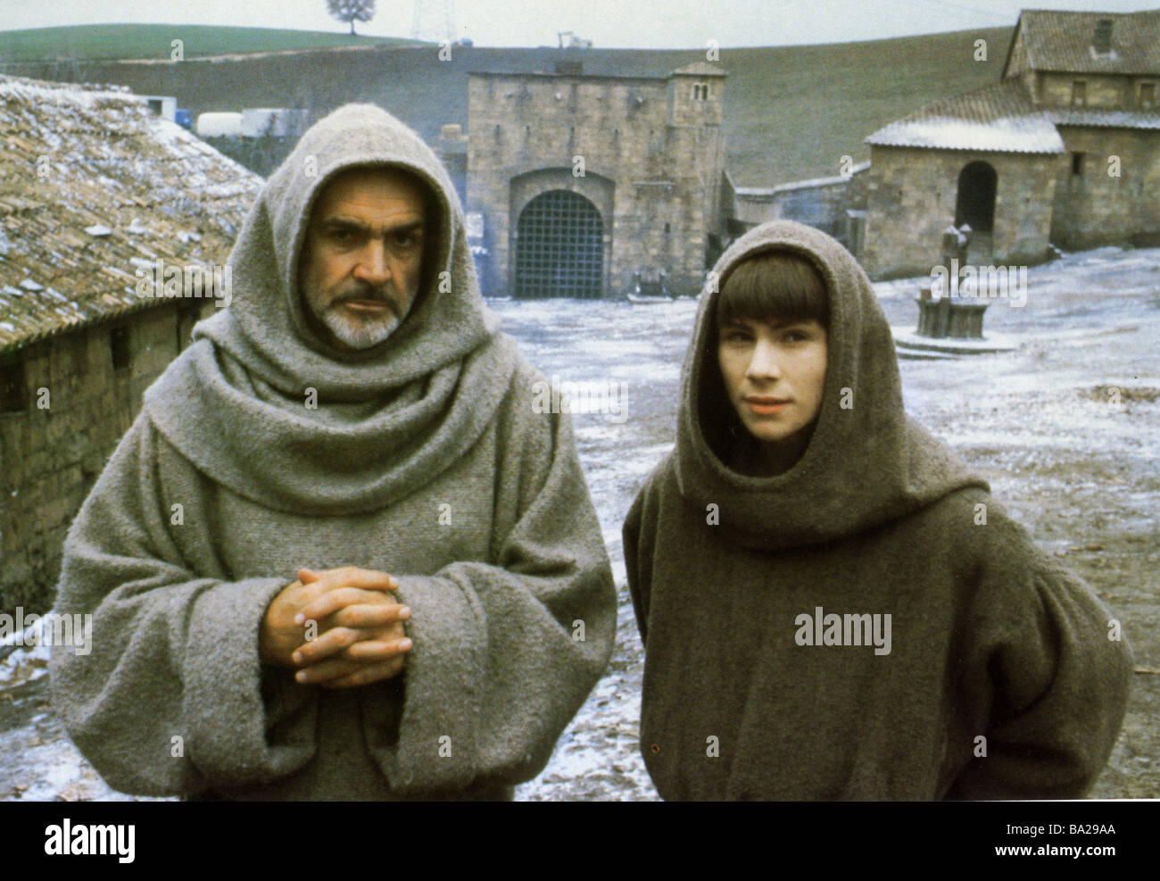 THE NAME OF THE ROSE 1986 TCF film with Sean Connery at left and Christian Slater - Stock Image